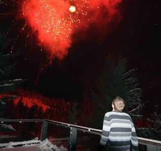 Whistler chalet rental - See New Year's and every Sunday night fireworks from the deck.