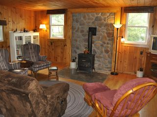 Edwards cabin photo - Comfy Living Room with Gas Stove.