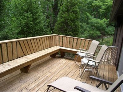 Open Deck with Wooded View