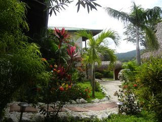 Nosara house photo - View of the grounds and entrance gate to Paloma Azul