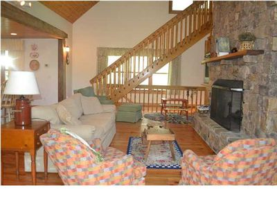 New photo of Rock Creek Cabin Living area.