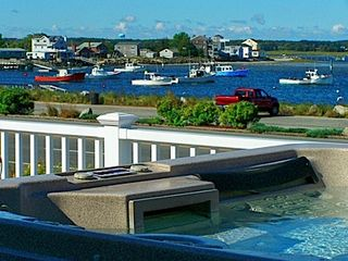 Seabrook house photo - Bay side harbor view from the hot tub