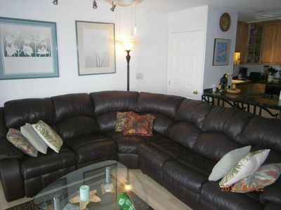 Large Leather Sectional Sofa with Recliners