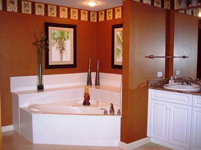 You may never want to leave your master bath