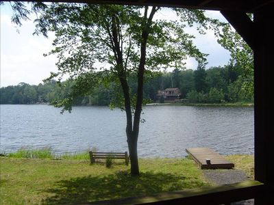 Arrowhead Lake house rental - Private dock right off the back deck