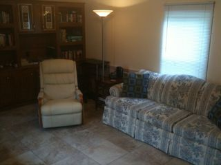 Mexico Beach mobile home photo - Living room with new tile