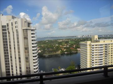 Intracoastal and city views from 2nd bedroom