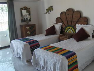 Same guest room with bed made into twin beds. - Bucerias townhome vacation rental photo