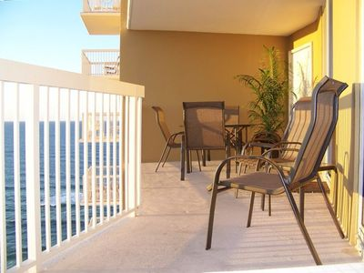 Extra large balcony with views of the breathtaking emerald coast!