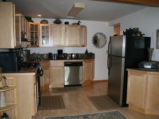 Homer chalet photo - A nice large kitchen fully equipped.