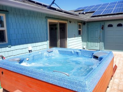 Bubbly spa, solar heating