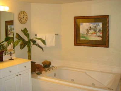 Master Bath with Tub and Walk In Shower