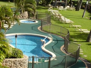 Maalaea condo photo - Pool, Jacuzzi, Barbecue Area and Lots of Lounging Space
