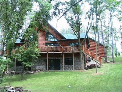Front of Log Home