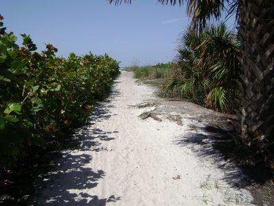 Beach access at the end of the street with no streets to cross.