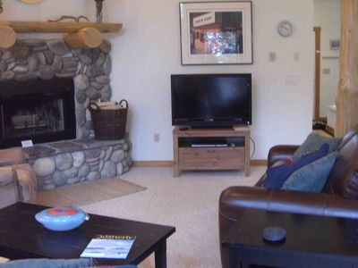 Great Room with Flat Screen TV and Fireplace