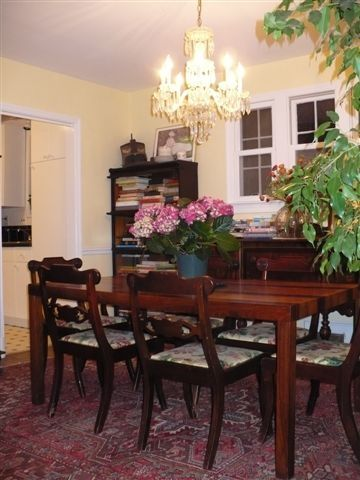 Dining Room with expandable dining table/seats 6, with leaf seats 8 to 10