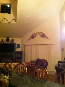 Great room, very high ceilings
