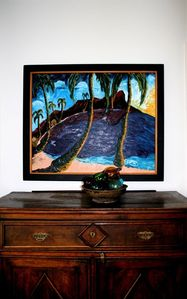 Furnished with wonderful antiques and art from around the world.