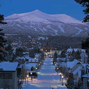 Breckenridge at night.  Most picturesque ski town in CO