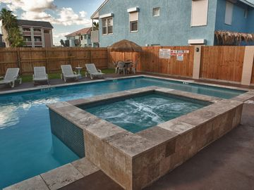South Padre Island condo rental - Relax in our spacious pool and spa!