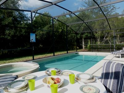 Relax and eat by the pool. This is where most of our guests spend their time.