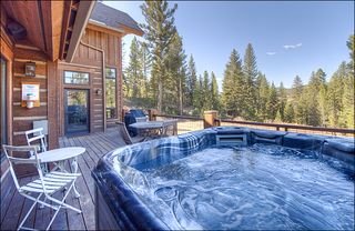 Big Sky house photo - Back Deck with Private Hot Tub & Outdoor Furniture