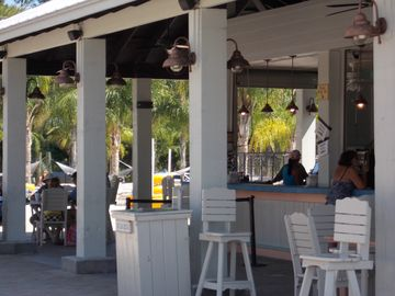 Bar and Restaurant onsite at the Oasis - call Kelli 800-933-6068