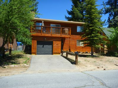 Al Tahoe cabin rental - Beautiful, freshly restained frontage to welcome you home