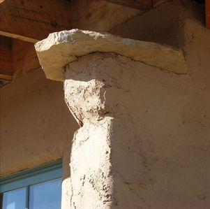 Adobe Buttress detail.
