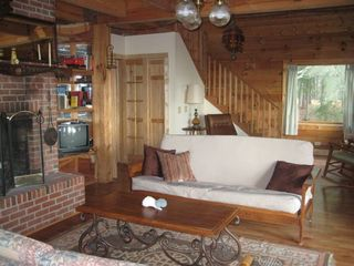 Crystal Coast Cabin - Lower Level Living Area