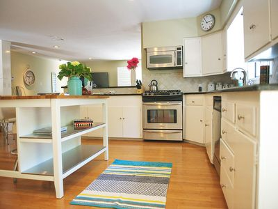 Kitchen includes gas stove