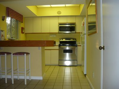 Miramar Beach condo rental - Fully furnished kitchen with new appliances & new washer/dryer