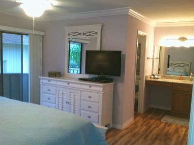 Two king size master bedrooms upstairs with walk-in closets and bathrooms.