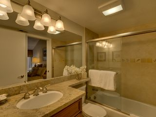 Carnelian Bay townhome photo - Master Bathroom w/Tub-Shower Combo