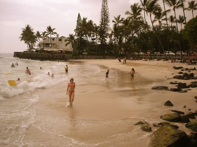 Kailua Kona condo rental - Walk to White Sands Beach in about 5 to 10 minutes