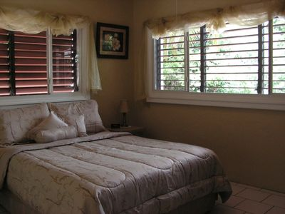 East End condo rental - Nicely decorated bedroom with comfortable bed