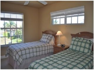 Vacation Homes in Marco Island house photo - Bedroom upstairs, Twin beds