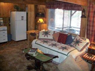 Big Bear Lake cabin photo - Den, downstairs with private deck, overlooking the lake.