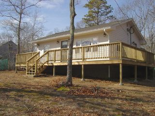 Front of house With Wrap Around Deck - Falmouth house vacation rental photo