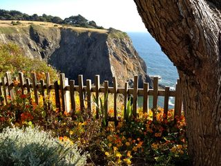 Mendocino house photo - Oceanfront garden near spa