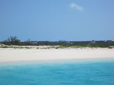 One of the beaches of Moriah Cay (a kayak ride away from our house).