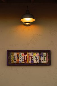 Sunset Terrace sign