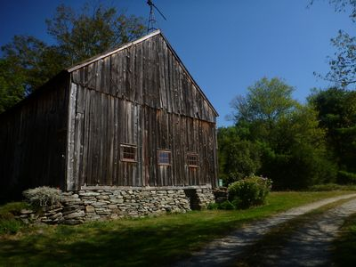 Historic Barn at Entrance
