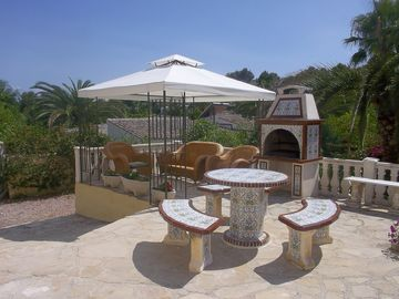 Moraira apartment rental - BBQ and Gazebo
