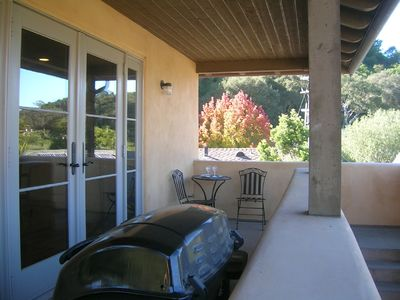 Enjoy a glass of wine or BBQ on the large balcony at the front French doors.