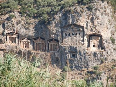 Dalaman apartment rental - Rock tombs at Dalyan