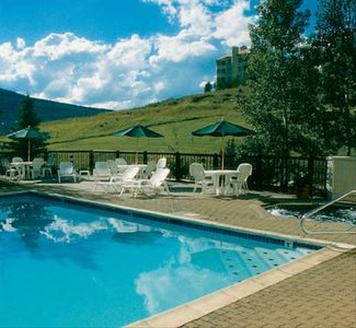 Popular heated pool is available year-round