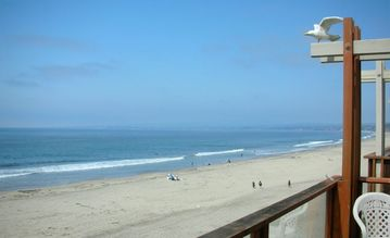 La Selva Beach townhome rental - DECK VIEW OF SURF AND SAND
