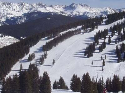 Close up of a ski run in Vail